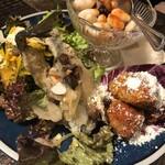 スパニッシュイタリアン Azzurro520 - 前菜三種盛り