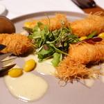 蘇山荘 - 本日鮮魚のカダイフ包み 銀杏の香るブールブランソース