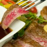 囲 - 特選上州牛のサーロインステーキ