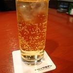 旬味美酒 松江駅前四季庵 - あんず酒ソーダ