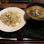 唐居 - ご飯ものと担々麺のセット