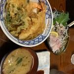 120214174 - 天丼&刺身小鉢