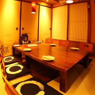 ≪完全個室≫上質な個室で贅沢な宴をお楽しみ下さい。