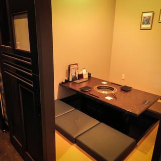 個室充実の洗練された上質な空間