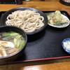 アサイチ - 料理写真:肉汁うどん   680円 ちくわ天   100円