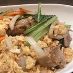 熱血食堂すわ - ♦︎豚バラたまご定食 900円(税込み) (ライス・スープ・もやし付き)