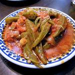クルド家庭料理 手芸カフェ メソポタミア - 料理写真:オクラとひき肉のトマト煮(Bamya) 400円