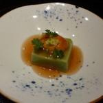 馳走 かく田 - <2012年3月>先付:よもぎ胡麻豆腐