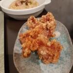 煮干し拉麺 アンチョビー - サイドの唐揚げ
