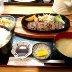 洋食 みやび - 料理写真:ステーキランチセット 1000円