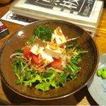 黒板 - シンプルなトマトと豆腐のサラダ