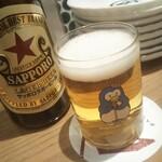 120260533 - 瓶ビールはサッポロラガー。