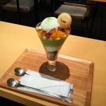 田頭茶舗 - 抹茶パフェ・フルーツ \990(消費税10%込)