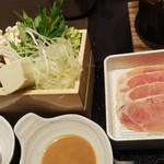 ゆず庵 - 肉と野菜(2019.11.22)