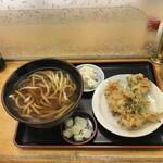 小峰 - 料理写真:かき揚げうどん550円