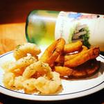 ブルックリン食堂 - エビのフリッターとオニオンリング