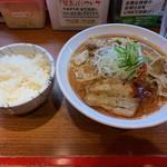 辛口炙り肉ソバ ひるドラ - 料理写真:味噌+白ご飯