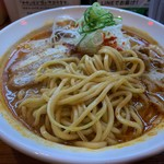 120273939 - 辛口炙り肉ソバ味噌の麺