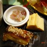 川畑 - 和え物、玉子、焼き魚