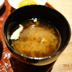 川畑 - 赤出汁の味噌汁