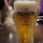 大東苑 - ドリンク写真:生ビール(プレミアムモルツ)
