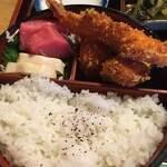 Nishijinebiya - マグロ 生湯葉              海老フライ 貝柱フライ 出汁巻