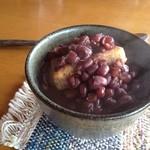 玄米食堂 楽土館 - 玄米餅のぜんざい@2012.3.11