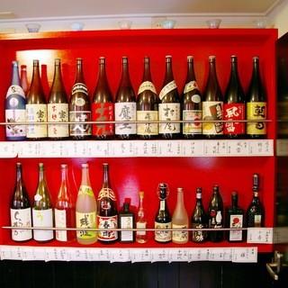 日本酒の品揃えも充実しています。