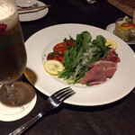 OSTERIA CAFE BAR CITRON - パルマ産生ハムとイベリコ豚サラミ盛り合わせ