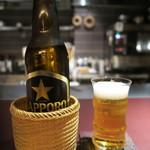 赤坂 渡なべ - サッポロ黒ラベル小瓶