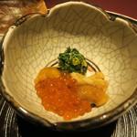 赤坂 渡なべ - 春菊と菊花和え