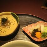 赤坂 渡なべ - 鯛茶漬け、お新香