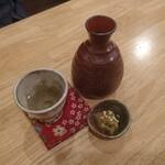 蕎麦処 みかわ - 府中誉(茨城県石岡市)の熱燗