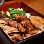 新宿 今井屋本店 - 比内地鶏 焼き鳥重@2,100円