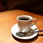 新宿 今井屋本店 - 【比内地鶏 焼き鳥重@2,100円】食後のホットコーヒー