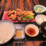 120318575 - 「鶏もも肉の唐揚げ御膳」(1,080円)