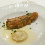 la Brianza - ポルチーニのフリットとポルチーニのラビオリ、フォンティーナチーズ