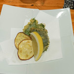炭焼き よし鳥 - 軟骨、挽肉大葉包み天ぷら