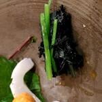 昇六 - お造りのつまは辛子水菜