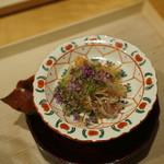 淡 如雲 - 香箱ガニと上海蟹にテールと新生姜の煮こごり