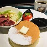 イシヤカフェ - パンケーキモーニング¥600(税込)
