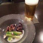 なかなか - 生ビール、前菜