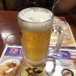 長浜ラーメン一番 - ドリンク写真:2019年11月23日  生ビール