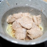 やまぐち - フカヒレのリングイネ 牛出汁? 蛤出汁