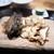 やまぐち - 料理写真:蝦夷アワビのステーキ 山口産松茸のリゾット