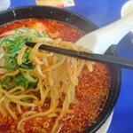 来来亭 - 太麺、チョイ縮れ