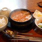 まつの実 - 豆腐チゲセット 1200円