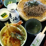 うおかっちゃん - ランチ:天丼そばセット880円