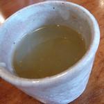 稜 - そば湯。