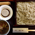 120361422 - 『塩町館セット(鴨せいろそばと蕎麦豆腐)』@1700+『大盛り』@500(税込)